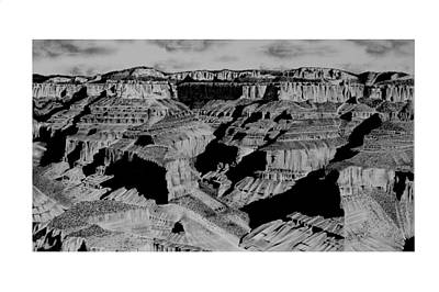 Grand Canyon Drawing - The Grand Canyon by John Bowman