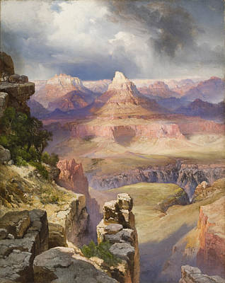 Desert View Painting - The Grand Canyon by Thomas Moran