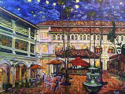 Photograph - The Grand Dame's Courtyard Cafe  by Belinda Low