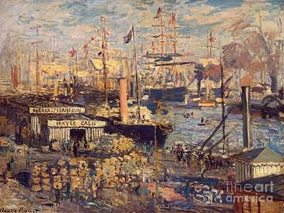 The Grand Dock At Le Havre Art Print by Monet
