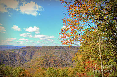 Photograph - The Grand Finale - Autumn At Pipestem State Park by Kerri Farley