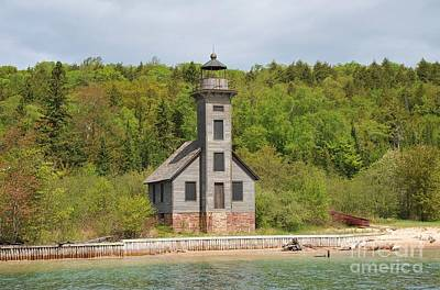 The Grand Island East Channel Lighthouse In Pure Michigan Art Print
