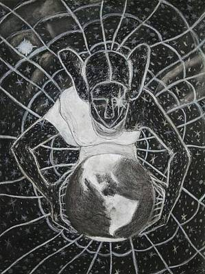 Hopi Drawing - The Grand Mother Spider by Tony Sasser jr