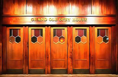 Musicians Mixed Media Rights Managed Images - The Grand Ole Opry Royalty-Free Image by Dan Sproul
