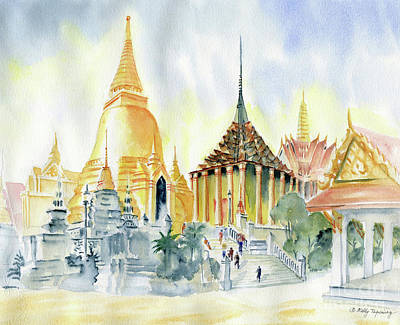 Painting - The Grand Palace Bangkok by Melly Terpening