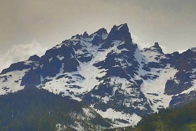 Teton Mixed Media - The Grand Teton by Dan Sproul