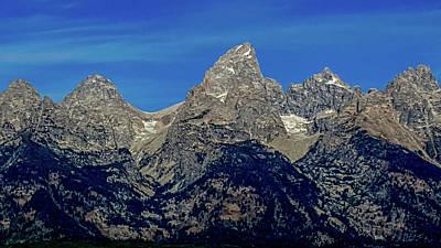 Photograph - The Grand Teton Mountains by Marilyn Burton
