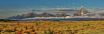 Digital Art - The Grand Tetons Panorama by Lena  Owens OLena Art