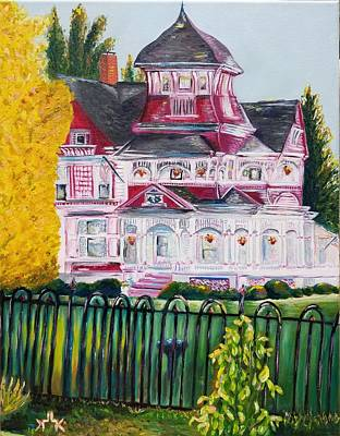 Painting - The Grand Victorian Richardi House  by Lettie Atkins