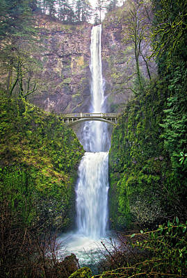 Photograph - The Grandeur Of Multnomah Falls by Lynn Bauer