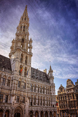 19th Century Photograph - The Grandeur Of The Grand Place Brussels  by Carol Japp