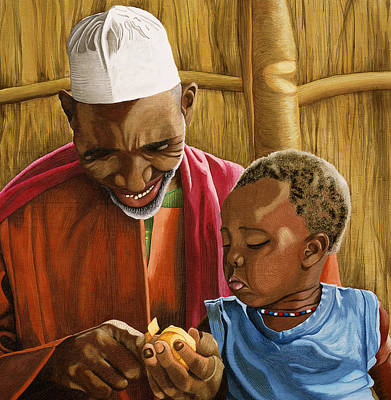 Painting - The Grandfather by Hollis Chatelain