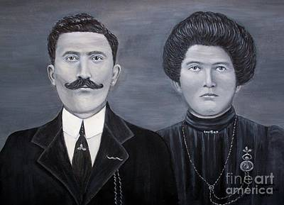 Painting - The Grandparents by Judy Kirouac