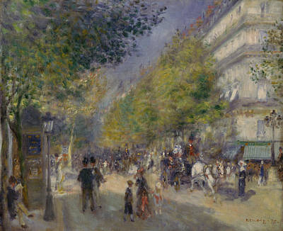 Painting - The Grands Boulevards by Auguste Renoir