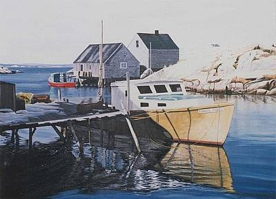 Painting - The Granite Prince - Peggy's Cove - Nova Scotia by Phil Chadwick