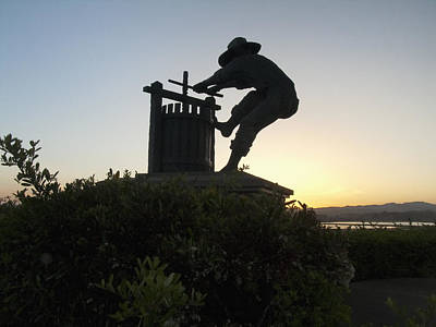 Gino Photograph - The Grape Crusher Napa Valley California by George Oze