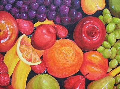 Wall Art - Painting - The Grape Gatsby by Rachel Cini