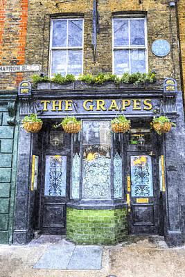 Spot Of Tea Royalty Free Images - The Grapes Pub London Art Royalty-Free Image by David Pyatt