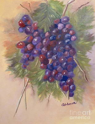 The Grapes Study Original by Adrianne  Wagers