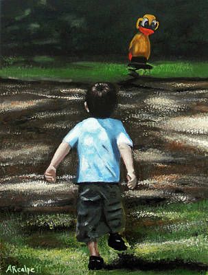 Painting - The Grass Is Always Greener On The Other Side by Andrea Realpe