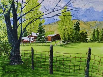Painting - The Grass Is Greener by Don Bosley