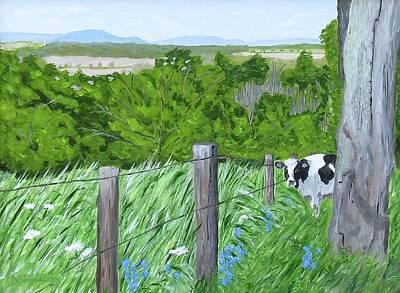 Painting - 'the Grass Sings In The Meadow' by Barb Pennypacker