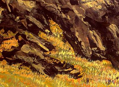 Painting - The Grass Upon The Rocks by Tim Townsend