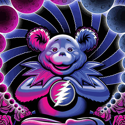 The Grateful Bear Ilustration Art Print