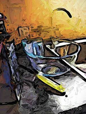 Digital Art - The Grater And The Glass Bowl by Jackie VanO