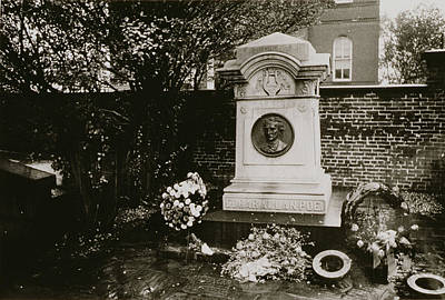 Grave Photograph - The Grave Of Edgar Allan Poe by Nat Herz