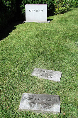Photograph - The Grave Of Katherine Graham by Cora Wandel