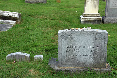 Photograph - The Grave Of Mathew Brady -- Renowned Photographer Of The American Civil War by Cora Wandel