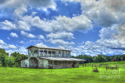 The Gray Barn 2 Prospect Community Morgan County Ga Art Print by Reid Callaway