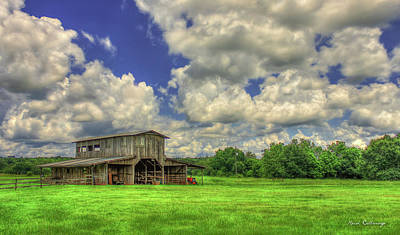 The Gray Barn Prospect Community Morgan County Georgia Art Print by Reid Callaway