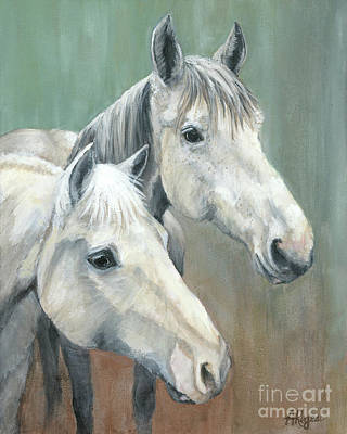 Painting - The Grays - Horses by Amy Reges