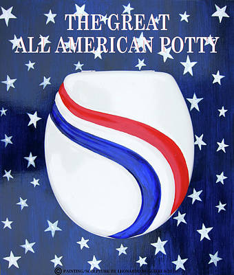 Mixed Media - The Great All American Potty by Leonardo Ruggieri