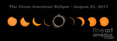 Photograph - The Great American Eclipse Of 2017 by John Roberts