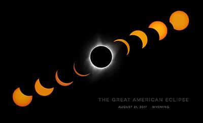Total Eclipse Of The Sun Photograph - The Great American Eclipse Totality Poster 20 by LeAnne Perry