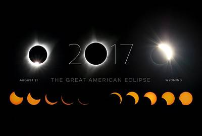 Total Eclipse Of The Sun Photograph - The Great American Eclipse Poster 3 by LeAnne Perry