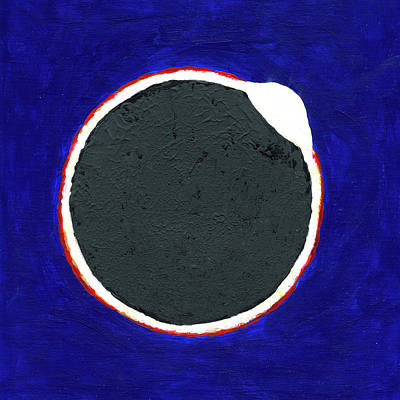 Painting - The Great American Solar Eclipse Diamond Edition by Deborah Boyd