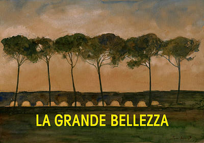 Grande Painting - The Great Beauty Poster Film by Juan  Bosco