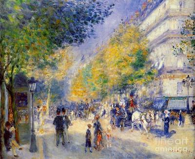 The Great Boulevards Art Print by Renoir