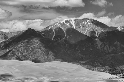 Photograph - The Great Colorado Sand Dunes  125 Black And White by James BO  Insogna