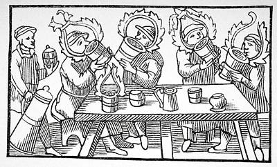 Tankard Drawing - The Great Drinkers Of The North by Vintage Design Pics