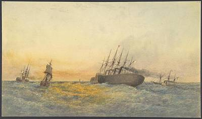 Other Painting - The Great Eastern Under Weigh by MotionAge Designs