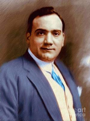 Music Paintings - The Great Enrico Caruso by Esoterica Art Agency