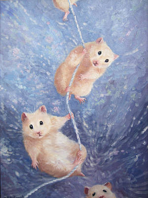 Hamster Painting - The Great Escape by Gill Bustamante