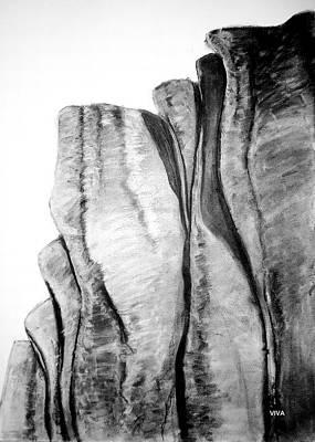 Drawing - The Great Escarpment  -  Australia by VIVA Anderson
