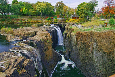 Photograph - The Great Falls Of The Passaic River 2 by Allen Beatty