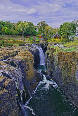 Photograph - The Great Falls Of The Passaic River by Allen Beatty